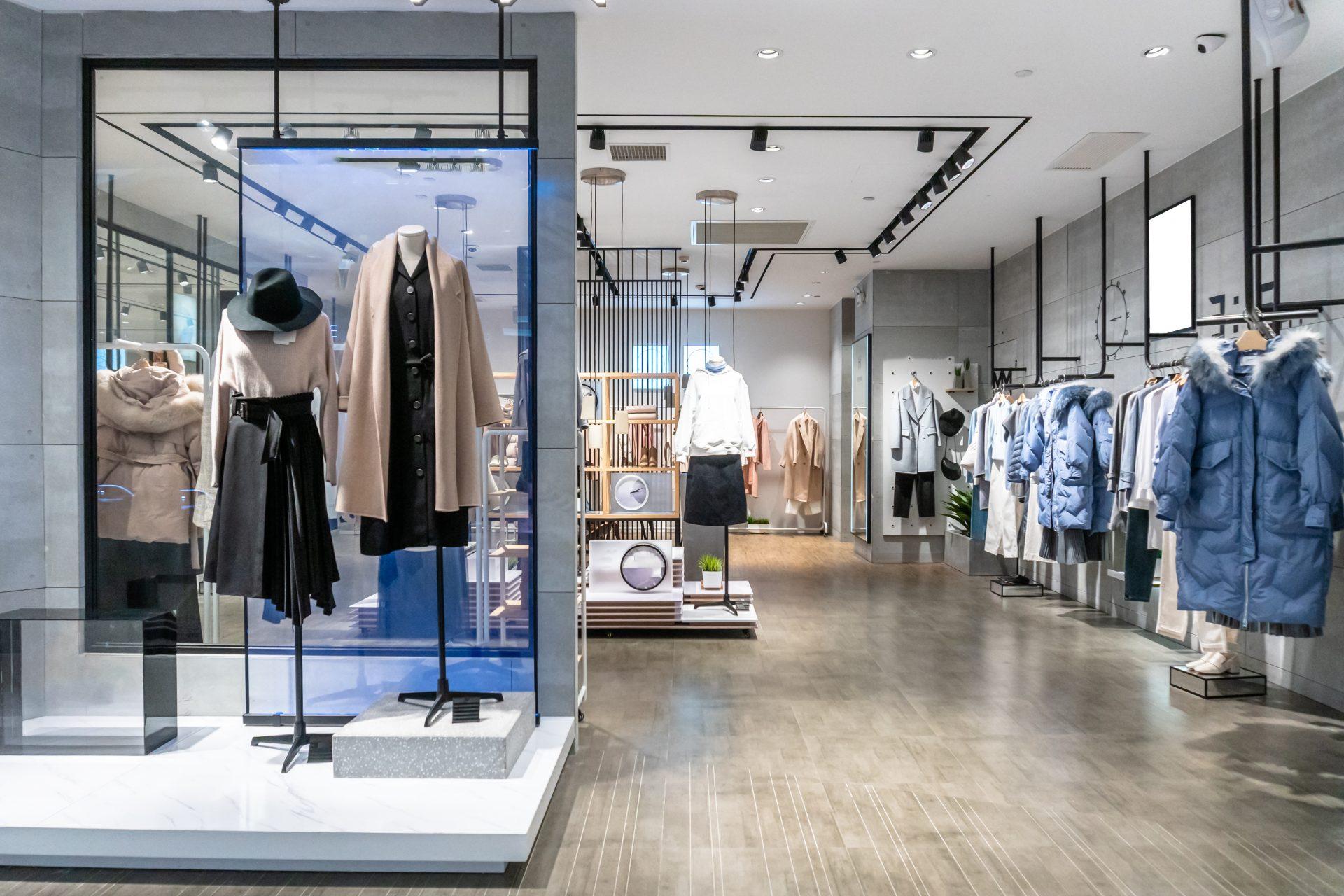Open plan retail store